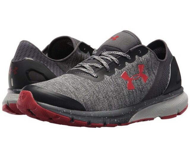 be16de58b11 UNDER ARMOUR CHARGED ESCAPE Men s Running Shoes Red Grey Silver 3020004 102