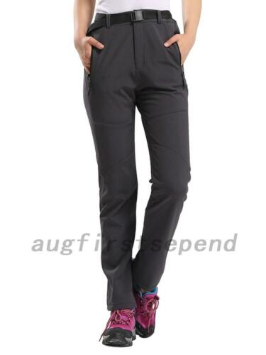 Thick Thermal Women Windproof Hiking Snow Ski Pants Trousers Pockets Warm AU