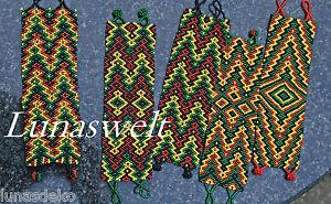 - Indianer - Glasperlen Armband Verschiedene Muster - Peru