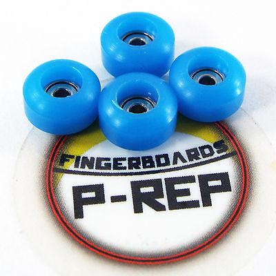 Blue Wooden Fingerboard Bearing Wheels