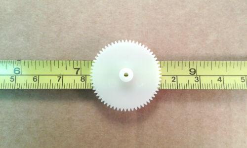 31mm Cog Wheel for 2mm Model Motor Shaft 60 Tooth White Plastic Gear