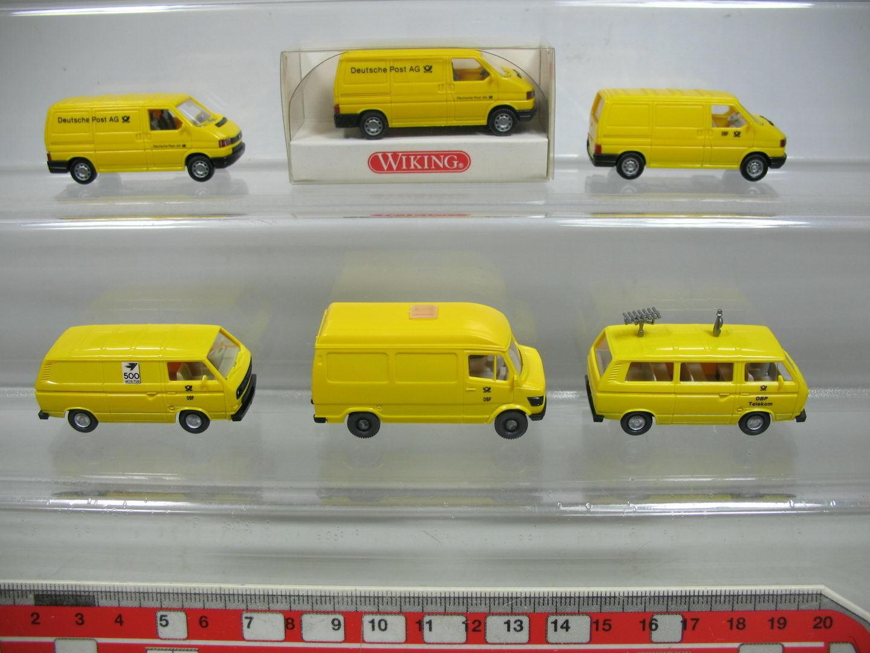 Af195-0, 5 X Wiking H0 Post Model Mercedes + Volkswagen VW   294 etc. MINT