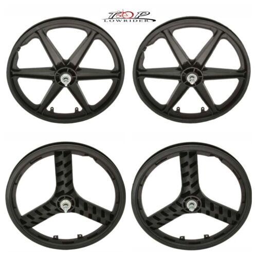 """20/"""" Plastic Bike Wheel 3//8 Axle in Black"""