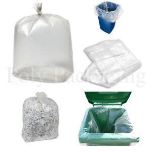 "50 x CLEAR BIN BAGS(18x29x39"")457x737x991mm Refuse Sacks Kitchen Bins Waste"
