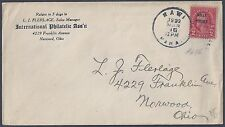 US 1922 HAWAIIAN ISLANDS MAWI COVER FRANKED Sc 646 2¢ WITH PLATE VARIETY KOLLY