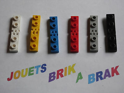 LEGO 4275 4276 Hinge Plate 1x2 with 2 and 3 Fingers complete x2