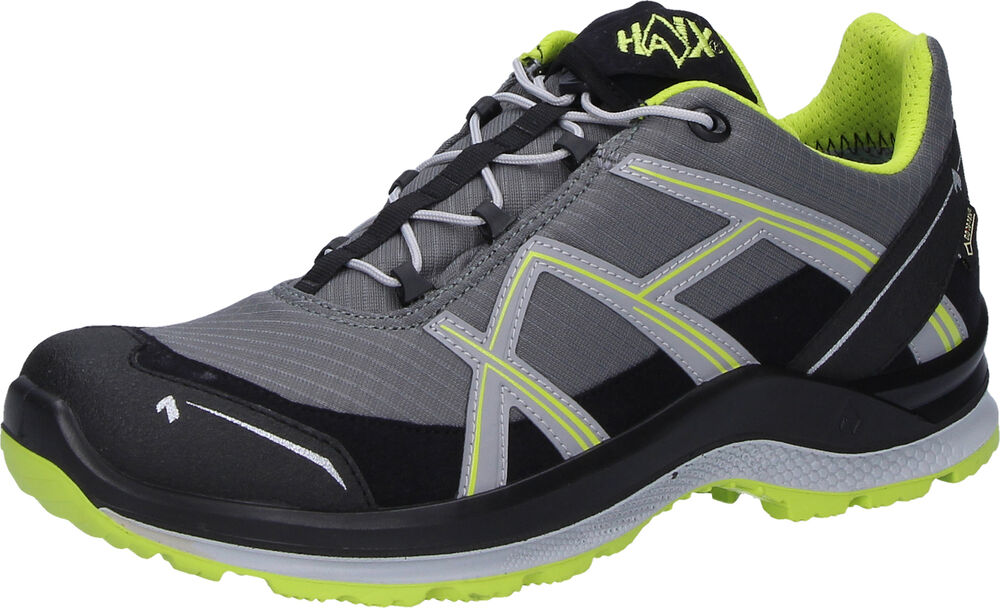 Haix Black Eagle Adv.2.1 Gtx Gris/jaune Outdoor Chaussures Basses Chaussures De Loisirs Taille 10
