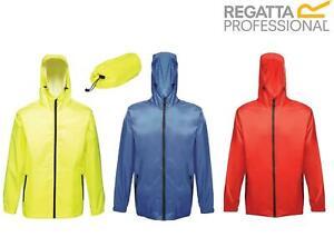 Regatta Mens Pro Packaway Waterproof Jacket Hooded Packable Bag Rain Coat