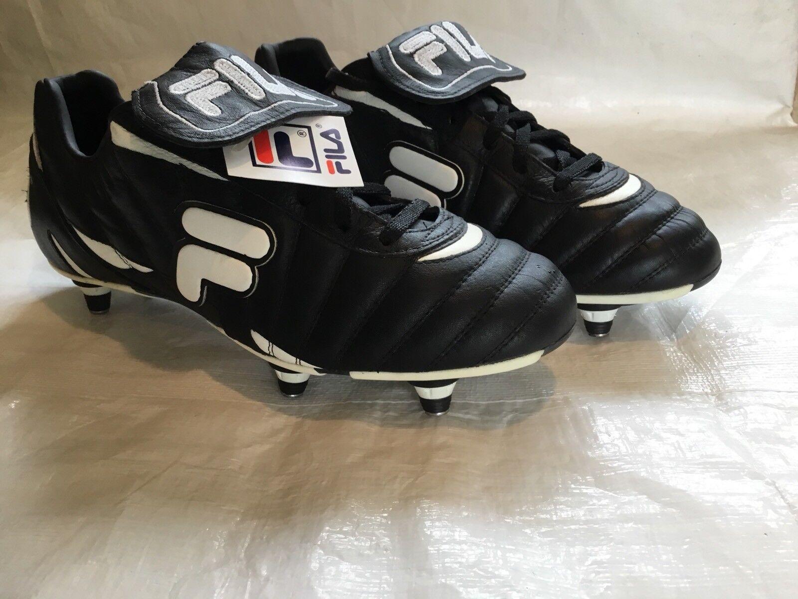 New Boxed Größe Leder 8UK Vintage Leder Größe FILA Football Stiefel Made In  249c30