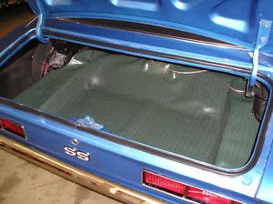 67 68 69 Camaro Aqua Herringbone Spare Tire Trunk Mat Ready To Ship