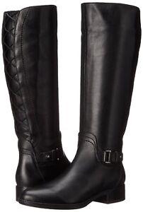 79 Geox Felicity BLlack Leather Knee