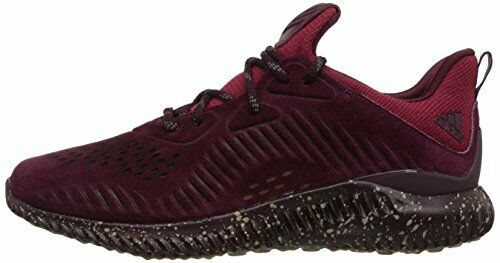 Adidas AlphaBounce LEA CQ1189 Leather Maroon Homme Running Chaussures