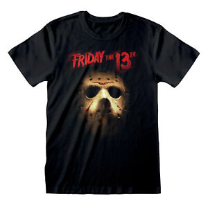 Official-Friday-the-13th-T-Shirt-Mask-Jason-Voorhees-Horror-Black-S-M-L-XL-XXL