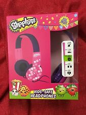 Shopkins Headphones Kid Safe Ages 5+ Adjustable Over-the-Ear Volume Limiting NEW