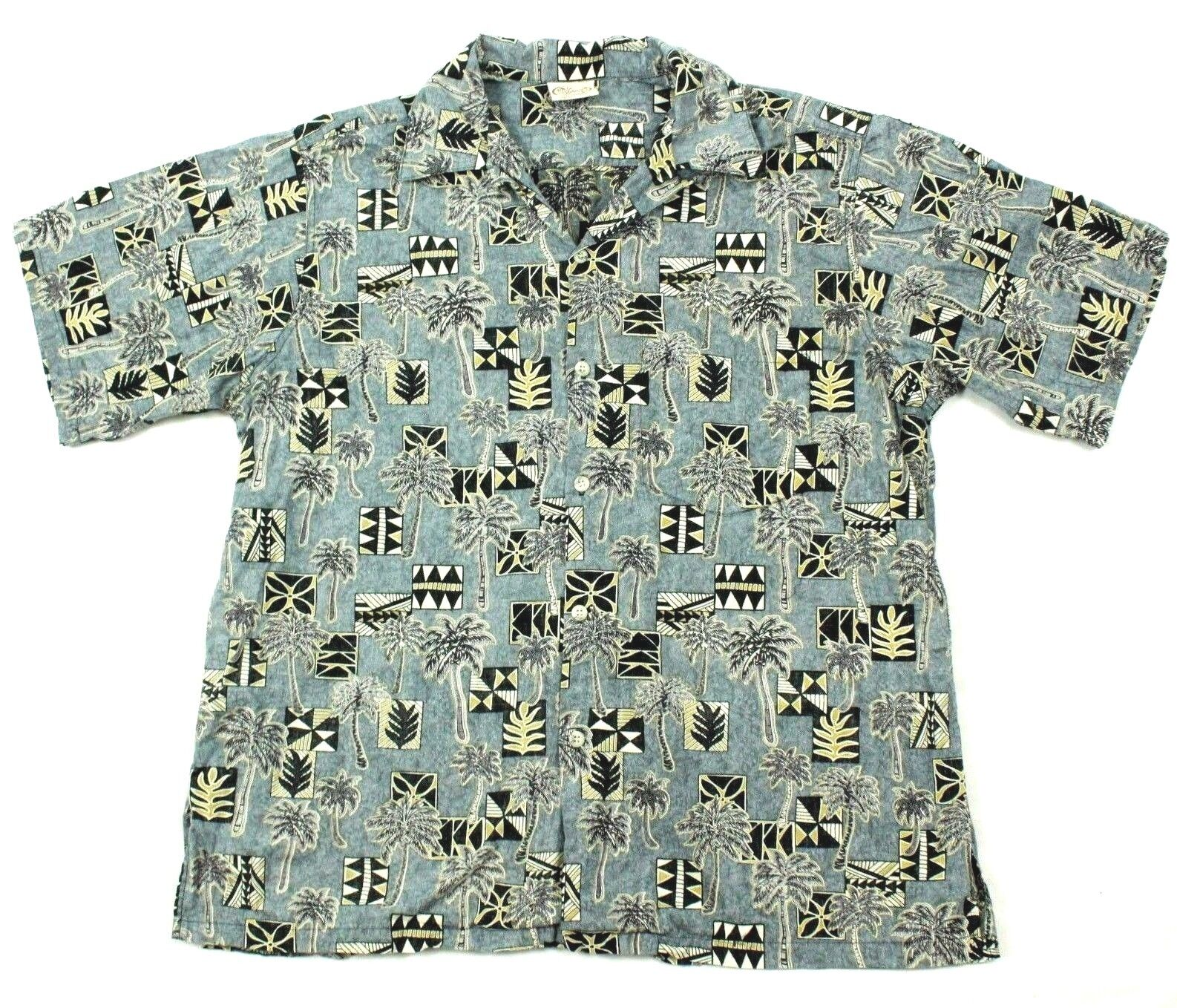 40702bda845e 70's Go Barefoot Hawaiian Shirt Men's Large VINTAGE OG Reverse Print HAWAII  MADE