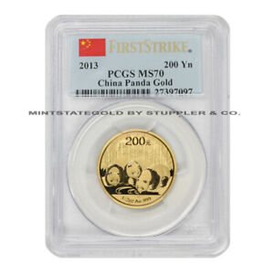 2013-China-Gold-Panda-200-Yn-PCGS-MS70-First-Strike-1-2-oz-graded-Chinese-coin