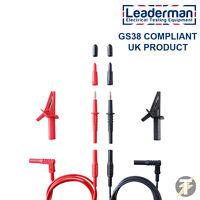 Leaderman LDM020 Multimeter Test Lead Set - Fluke-Megger-Kewtech-Metrel-Others