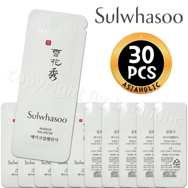 Sulwhasoo Makeup Balancer No.1 Light Pink 1ml x 30pcs (30ml) Sample Newist Ver