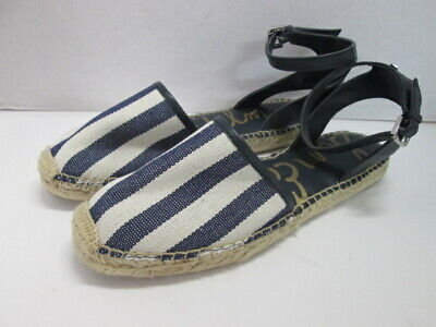 Women Sam Edelman Vivian Casual Closed Toe Open Back Sandal//Shoe Navy//white