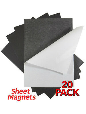 A4 0.4mm Self Adhesive Sheet Magnets | 20 Pack | Ref.59175