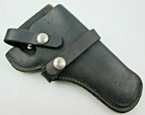 Hunter-Black-Leather-Holster-RH-Belt-Snap-Off-Series-1100-Model-1100B62-USED