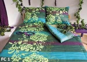 Mako-ropa-de-cama-satinada-TURQUESA-VERDE-3-Tamanos-a-seleccionar