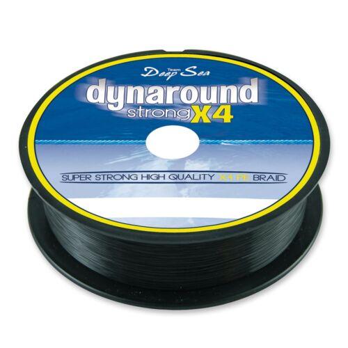 0,07€//m Dynaround Strong 4 PE Braid Geflochtene Angelschnur 300m verschiedene