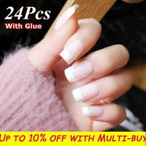 Cover-French-Classic-Natural-With-Glue-Manicure-Tool-False-Nail-Tips-Fake-Nails