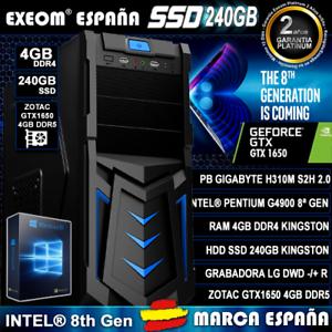 Ordenador-Gaming-Pc-Intel-Core-G4900-4GB-DDR4-SSD-240GB-GTX1650-4GB-De-Sobremesa