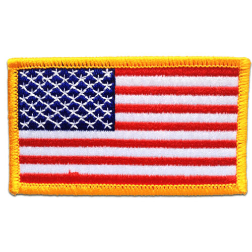USA ARMY Flagge Fahne weiß 7,5 x 4,7 cm Aufnäher // Bügelbild Patches