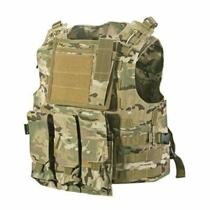 MOLLE-Military-Army-Combat-Paintball-Vest-Adjustable-Light-Camouflage-Nylon