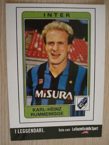 PROMOCARD RUMMENIGGE INTER FC LEGGENDARI ALBUM PANINI