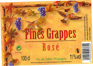 Etiquette-de-vin-Fines-grappes-Rose