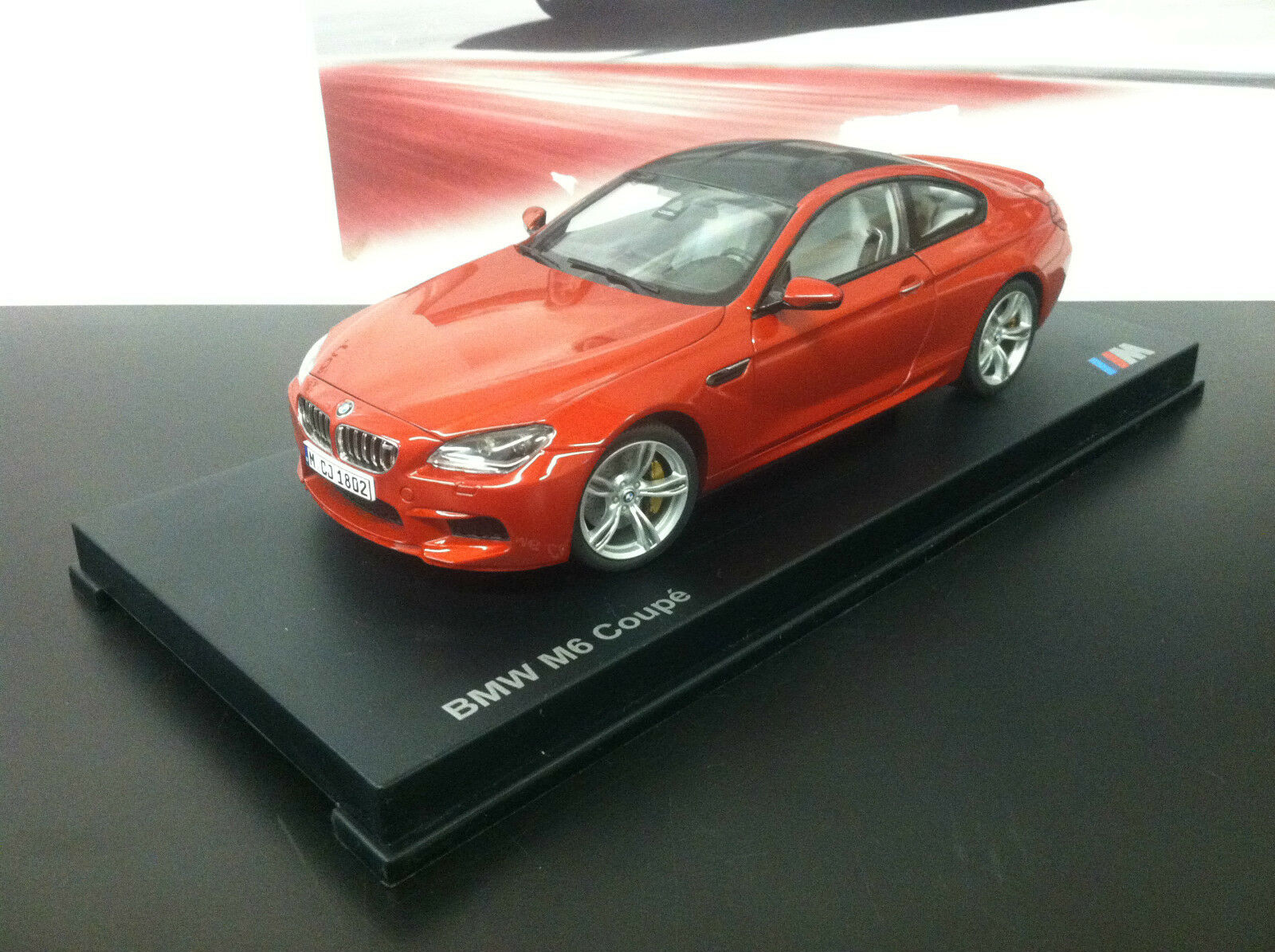 BMW M6 F13 Coupe  Sakhir orange  1 18th    Factory BMW Diecast