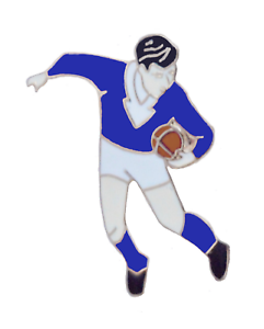 Scotland Rugby Player Pin Badge