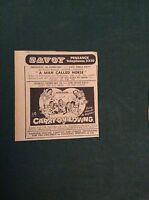 G1-1  Ephemera 1971 picture advert carry on loving savoy penzance