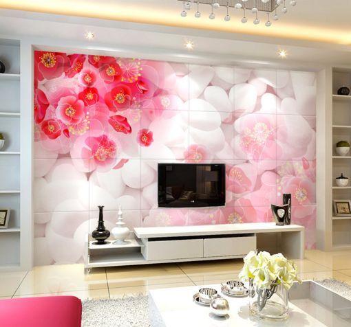 3D Ciottoli, fiore 8 Parete Murale Carta da parati immagine sfondo muro stampa