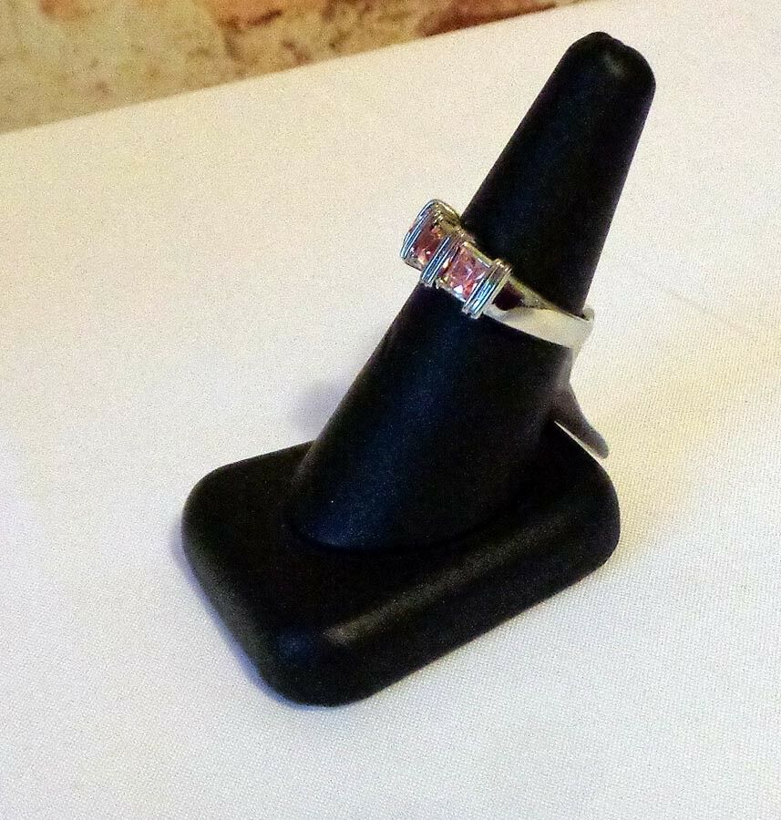 Silver Rings with High Cut CZ size 8 Absolutely Gorgeou