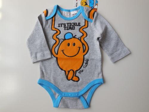 NEW Mr Men Mr Tickle baby boy romper bodysuit size 000 Fits 0-3 mths Gift