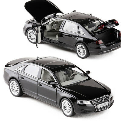 1:32 Audi A8 Diecast Model Car Toy Collection Luminous Pullback Power Best Gift