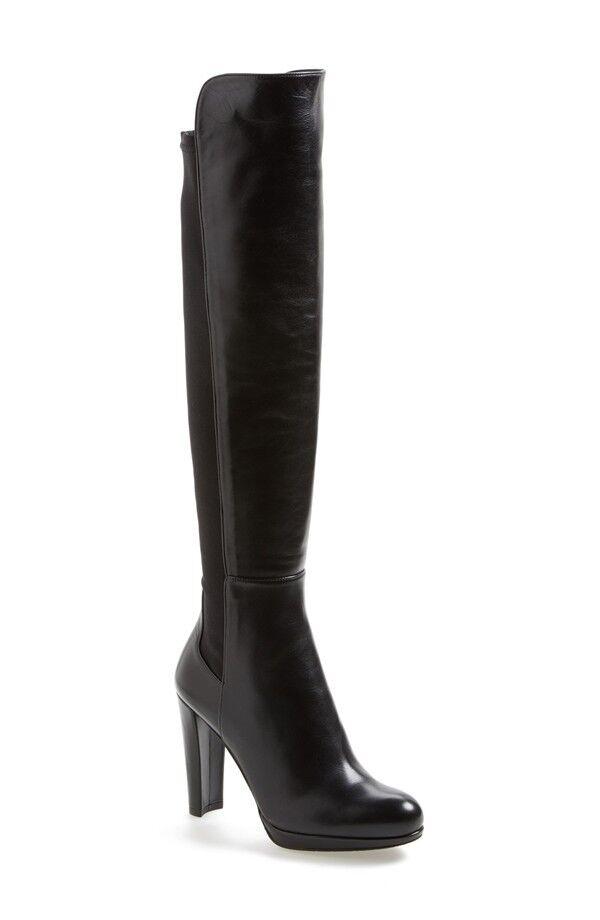acquista online oggi Stuart Weitzman HIGHWAY 5050 Over The The The Knee nero Leather High Heel avvio OTK S 10  marca