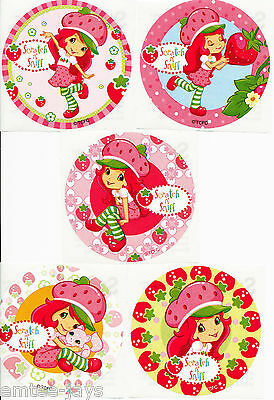 Strawberry Shortcake Scratch and Sniff Stickers x 5 - Birthday Favours - Loot