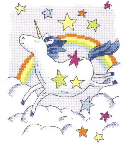 Heritage Crafts Cross Stitch Kit Unicorn
