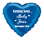 """Baby Shower Personalised foil balloon 18/"""" Heart"""