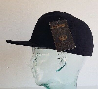 KB ETHOS FITTED PLAIN CAPS FLAT PEAK BNWT SNAPBACK//BASEBALL CAP ROYAL BLUE