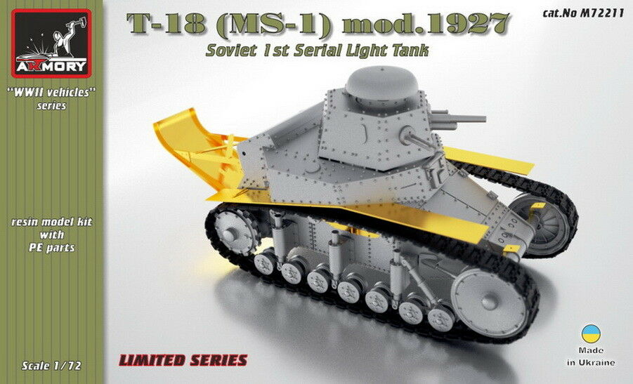 Armory Production 1 72 Soviet Light Tank T-18 (MS-1) Resin kit