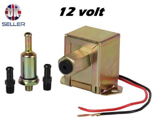 12v Pompa Carburante Elettrica Universale in Metallo Diesel o Benzina 4-6 PSI Facet Stile