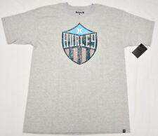 493ddd696 Hurley T-Shirt Men's Size L Pirates Life Graphic Print Logo Crew Tee Grey  P056