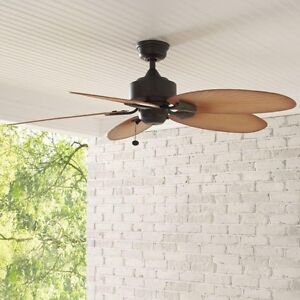 Ceiling Fan Indoor Outdoor Screened Porch Covered Patio Tropical 52
