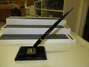 Awe Inspiring Details About Vintage Sheaffers Desk Set Feather Touch 5 14K Fountain Pen Pen Holder Interior Design Ideas Helimdqseriescom